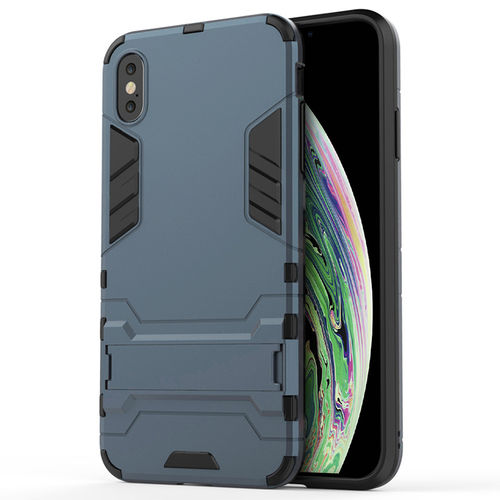 Slim Armour Tough Shockproof Case for Apple iPhone Xs Max - Blue